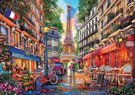 1000 darabos puzzle - Puzzle Paris Dominic Davison Educa 1000 darabos és Fix ragasztóval a csomagban 11 évtől_1