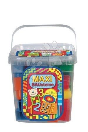 Dohány építőkockák - Játékkockák Maxi Blocks - számok Dohány vödörben 34 darabos 18 hó-tól