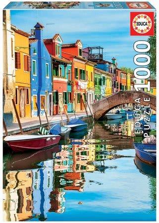 1000 darabos puzzle - Puzzle Burano Educa 1000 darabos és Fix ragasztóval a csomagban 11 évtől