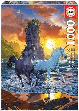 1000 darabos puzzle - Puzzle Unicorns On Beach Vincent Hie Educa 1000 darabos és Fix ragasztóval a csomagban 11 évtől