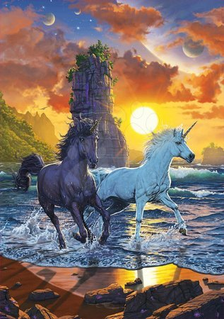 1000 darabos puzzle - Puzzle Unicorns On Beach Vincent Hie Educa 1000 darabos és Fix ragasztóval a csomagban 11 évtől_1