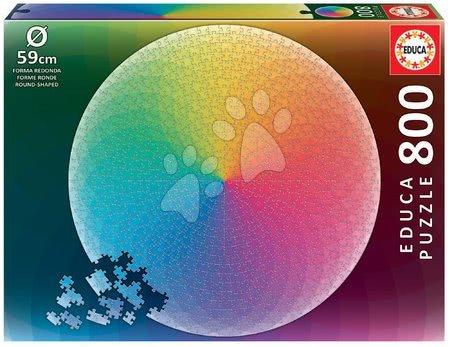 1000 darabos puzzle - Puzzle Rainbow Round Educa 800 darabos és Fix ragasztó 11 évtől