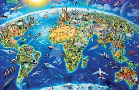 1000 darabos puzzle - Puzzle Miniature series World Landmarks Educa 1000 darabos és Fix ragasztó_1