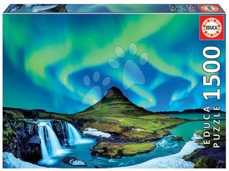 Igračke za sve od 10 godina - Puzzle Aurora Boreal Islandia Educa 1500 dijelova i Fix ljepilo od 11 godina