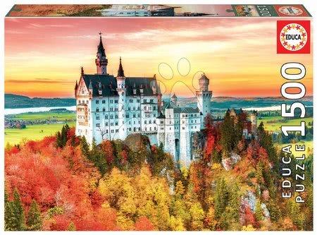 Igračke za sve od 10 godina - Puzzle Autumn in Neuschwanstein Educa 1500 dijelova i Fix ljepilo od 11 godina