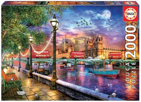 Igračke za sve od 10 godina - Puzzle London at Sunset Dominic Davison Educa 2000 dijelova i Fix ljepilo od 11 godina