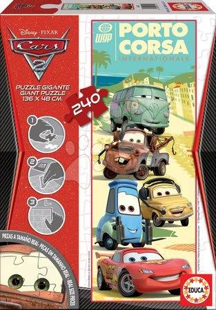 Otroške sestavljive podloge - Puzzle Giant Disney Avtomobili 2 Educa 240 delov od 8 leta