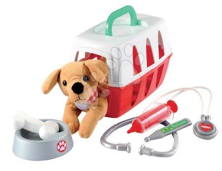 Medicinska kolica za djecu - Medicinska košara Écoiffier za psića sa zdjelicom i medicinskim dodacima od 18 mjes