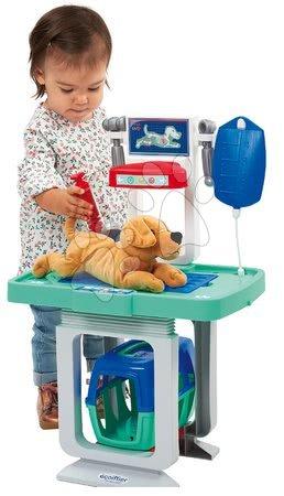 Medicinska kolica za djecu - Veterinarska kolica s psićem Medical Ecoiffier s infuzijom i 15 dodataka od 18 mjes_1