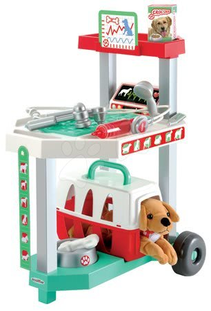 Medicinska kolica za djecu - Veterinarska klinika Écoiffier sa psićem u košari i 15 dodataka od 18 mjes