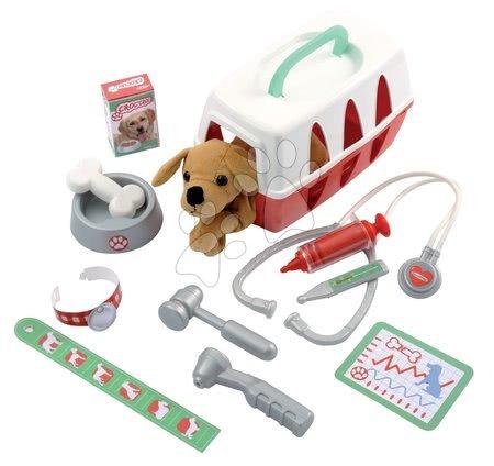 Medicinska kolica za djecu - Veterinarska klinika Écoiffier sa psićem u košari i 15 dodataka od 18 mjes_1