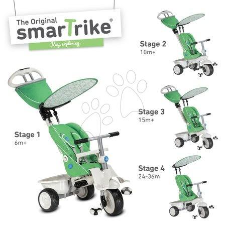 - Tricikli Recliner 4in1 smarTrike dönthető háttámlával és esővédővel zöld-szürke 6 hó-tól