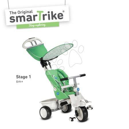 - Tricikli Recliner 4in1 smarTrike dönthető háttámlával és esővédővel zöld-szürke 6 hó-tól_1