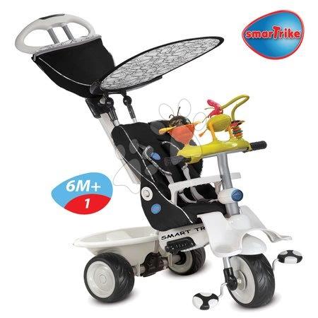 - Tricikli Recliner Toybar 4in1 smarTrike játékokkal fekete-szürke 6 hó-tól