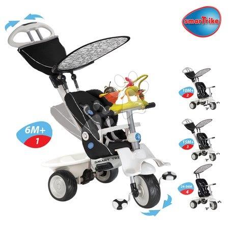 - Tricikli Recliner Toybar 4in1 smarTrike játékokkal fekete-szürke 6 hó-tól_1