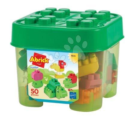 Építőjátékok - Építőjáték állatkák Abrick Animals Écoiffier 50 darabos tárolódobozban 18 hó-tól