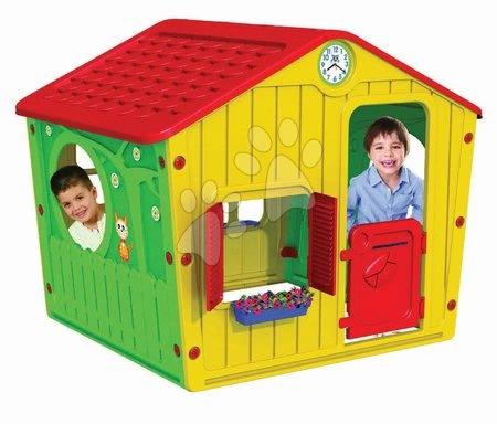 Domček pre deti Galilee Village House Starplast od 2 rokov žlto-červený