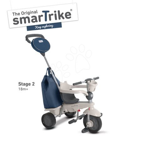 smarTrike - Trojkolka Voyage Touch Steering 4v1 smarTrike s 2 taškami a slnečnou clonou modro-šedá od 10 mes_1
