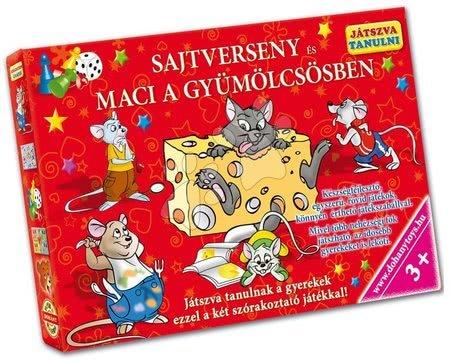 Jocuri de societate pentru copii - Joc de societate învăţare prin Joacă Concurs de caşcaval şi Ursuleţul în livadă Dohány