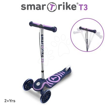 Trotinete - Trotinetă T3 smarTrike cu sistem T-lock mov de la 24 luni