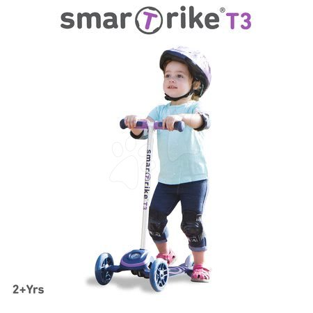 Trotinete - Trotinetă T3 smarTrike cu sistem T-lock mov de la 24 luni_1