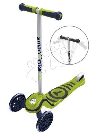 Trotinete - Trotinetă T3 smarTrike cu sistem T-lock luni capacitatea maximă 20 kg verde