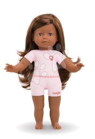 Bábika na obliekanie Pauline Ma Corolle dlhé tmavohnedé vlasy a hnedé klipkajúce oči 36 cm od 4 rokov
