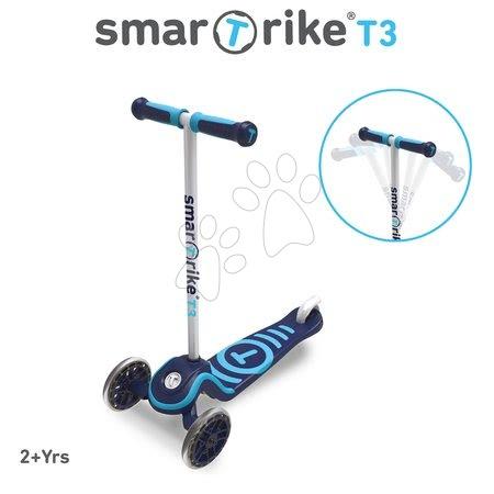 Trotinete - Trotinetă T3 smarTrike cu sistem T-lock albastră de la 24 luni