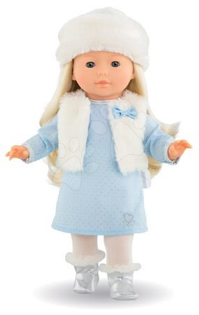 Corolle - Păpușa Priscille Ma Corolle rochie albastru pal și ochi albaștrii clipitori 36 cm - Ediție specială de la 4 ani