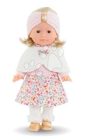 Corolle - Păpușă cu pelerină Ma Corolle Priscille Blossom Winter Corolle cu ochi albaștri 36 cm - ediție limitată de la 4 ani