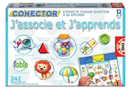 Spoločenské hry - Náučná hra Conector J'associe et J'apprends Educa 242 otázok vo francúzštine od 4 rokov