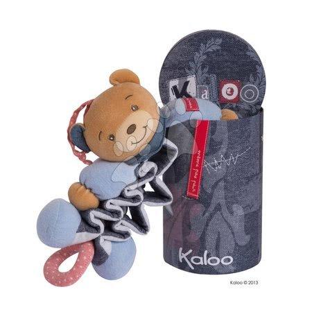 Hračky do postieľky  - Plyšový medvedík Blue Denim-Zig Kaloo spievajúci naťahovací 25-40 cm v darčekovom balení pre najmenších_1