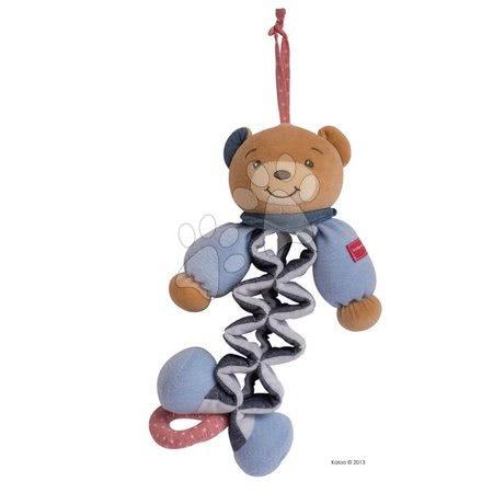 Plišasti medvedek Blue Denim-Zig Kaloo pojoči raztegljiv 25-40 cm v darilni embalaži za najmlajše