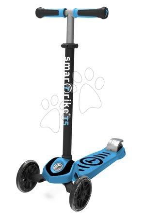 Trotinete - Trotinetă T5 smarTrike cu sistem T-lock capacitatea maximă 50 kg albastră