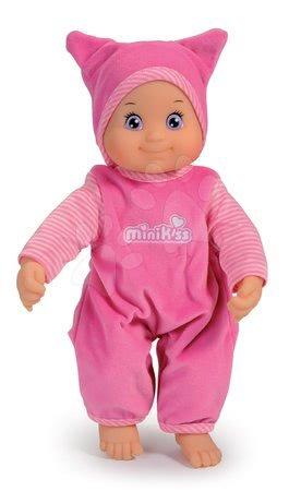 Panenky od 9 měsíců - Panenka se zvukem MiniKiss Smoby růžová od 12 měsíců