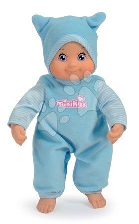 Panenky od 9 měsíců - Panenka se zvukem MiniKiss Smoby modrá od 12 měsíců