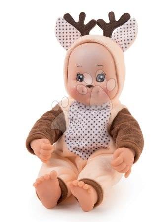 Panenky od 9 měsíců - Panenka v kostýmu Srneček Animal Doll MiniKiss Smoby 27 cm se zvukem od 12 měsíců