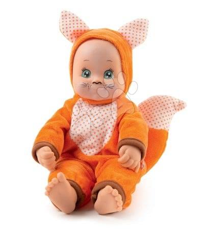 Panenky od 9 měsíců - Panenka v kostýmu Lišky Animal Doll MiniKiss Smoby 27 cm se zvukem od 12 měsíců
