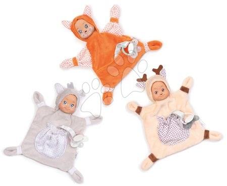 Hračky do postieľky  - Sada 3 zvieratiek na maznanie Animal Doll MiniKiss Smoby 20 cm z jemného mäkkého textilu od 0 mes_1