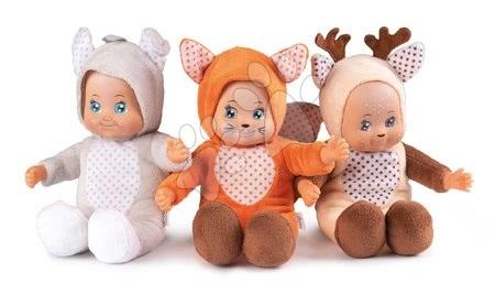 Panenky od 9 měsíců - Sada 3 panenek v kostýmech Mini Animal Doll MiniKiss Smoby 20 cm Liška Zajíc a Srnka od 12 měsíců