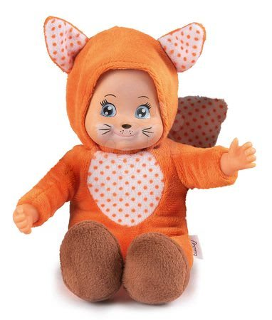 Panenky od 9 měsíců - Panenka v kostýmu Liška Mini Animal Doll MiniKiss Smoby 20 cm od 12 měsíců