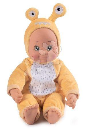 Panenky od 9 měsíců - Panenka v kostýmu Šnek MiniKiss Croc Smoby žlutý se zvukem polibku s měkkým tělíčkem od 12 měsíců