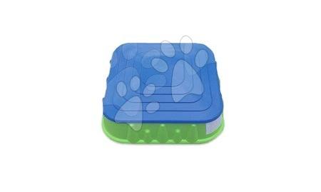 Homokozó négyzet alakú Starplast fedővel, zöld-kék 24 hó-tól