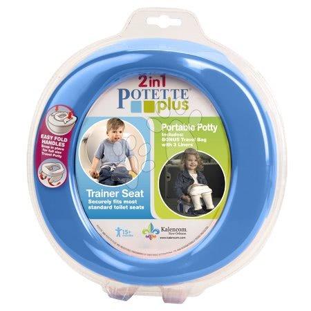 Cestovný nočník/redukcia na WC Potette Plus modro-žltý od 15 mesiacov