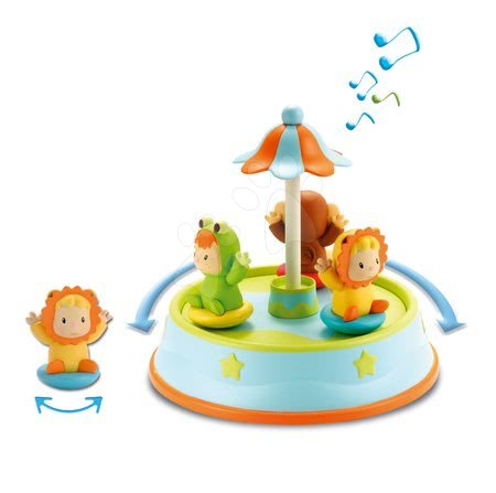 Razvoj motorike - Vrtiljak Cotoons Merry Smoby s plešočimi figuricami in melodijami od 12 mes_1