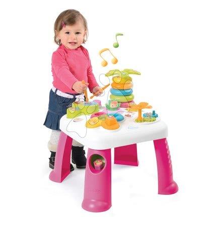 Masă educativă Cotoons Smoby cu efecte sonore şi luminoase roz de la 12 luni