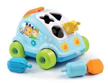 Auto Chrobáčik Cotoons Smoby s kockami modro-zelené od 12 mes