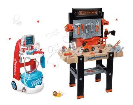 Black & Decker - Set pracovní dílna Black&Decker Smoby elektronická a lékařský vozík Medical