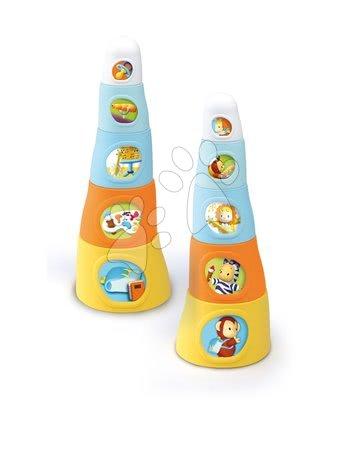 Razvoj motorike - Stolp lončkov Happy Tower Cotoons Smoby 5 kosov oranžno-modri od 12 mes