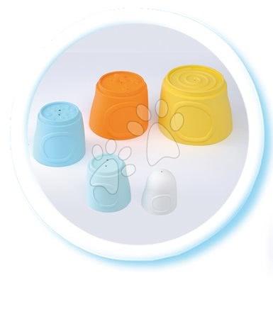 Razvoj motorike - Stolp lončkov Happy Tower Cotoons Smoby 5 kosov oranžno-modri od 12 mes_1
